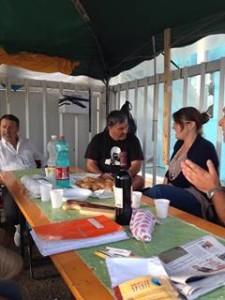 Eleonora Frattolin, Consigliere Regionale M5S, al picchetto dei lavoratori Ideal Standard di Orcenico di Zoppola, 27 agosto 2013