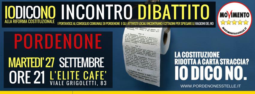 INCONTRO/DIBATTITO COI PORTAVOCE M5S DI PORDENONE #IODICONO
