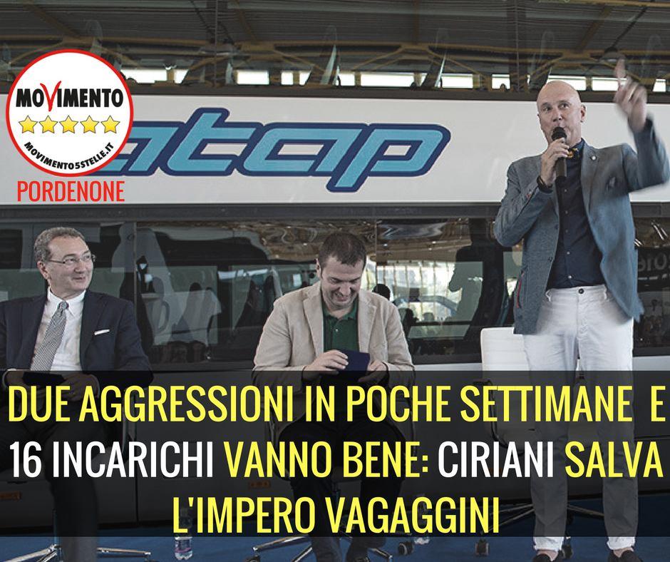 You are currently viewing DUE #AGGRESSIONI IN POCHE SETTIMANE E 16 INCARICHI VANNO BENE: #CIRIANI SALVA L'IMPERO #VAGAGGINI