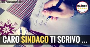 CARO SINDACO TI SCRIVO…