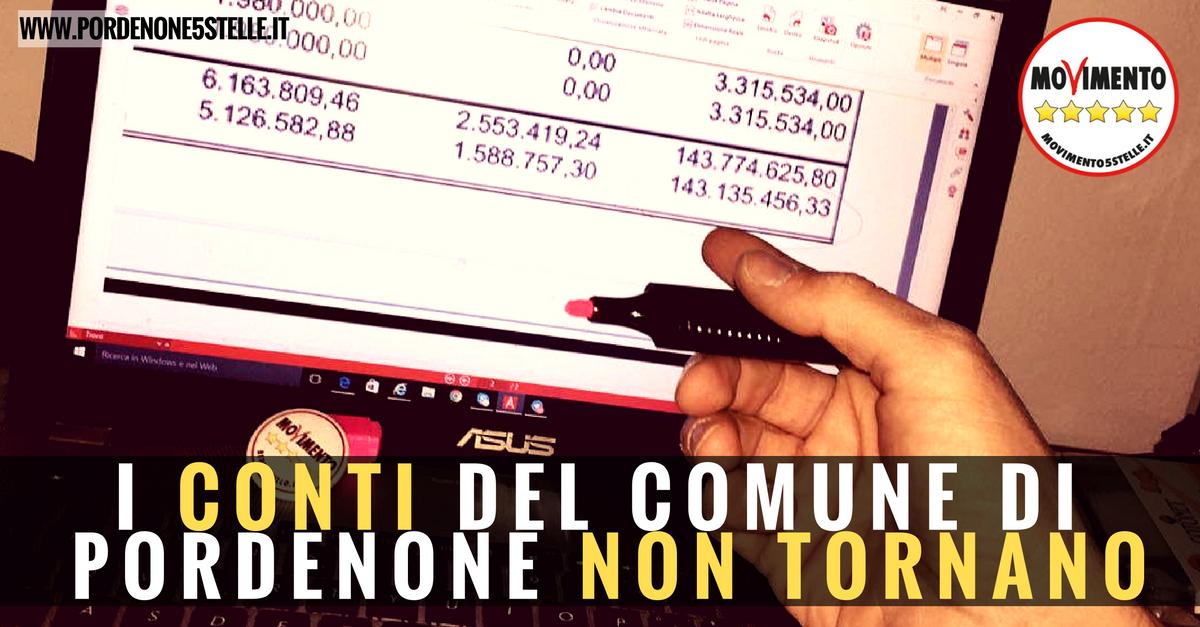 You are currently viewing I CONTI DEL COMUNE DI PORDENONE NON TORNANO