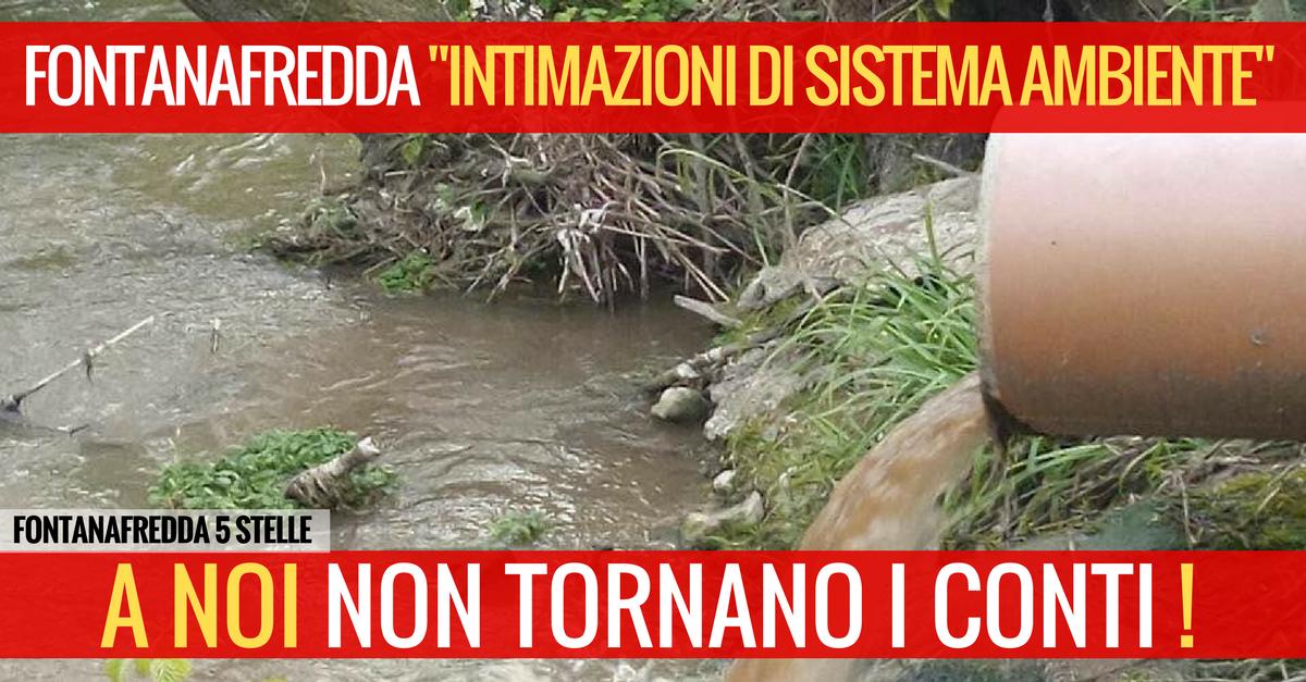 """FONTANAFREDDA """"INTIMAZIONI DI SISTEMA AMBIENTE"""""""