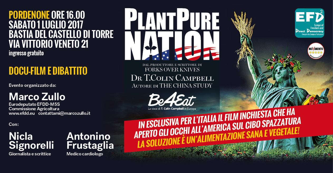 You are currently viewing Plant Pure Nation a Pordenone – In esclusiva per l'Italia il film inchiesta che ha aperto gli occhi all'America sul cibo spazzatura.