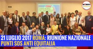 Read more about the article 21 LUGLIO 2017 – ROMA: RIUNIONE NAZIONALE PUNTI SOS ANTI EQUITALIA
