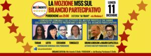 LA MOZIONE M5S SUL BILANCIO PARTECIPATIVO