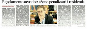 Read more about the article NUOVO REGOLAMENTO ACUSTICO, WORK IN PROGRESS