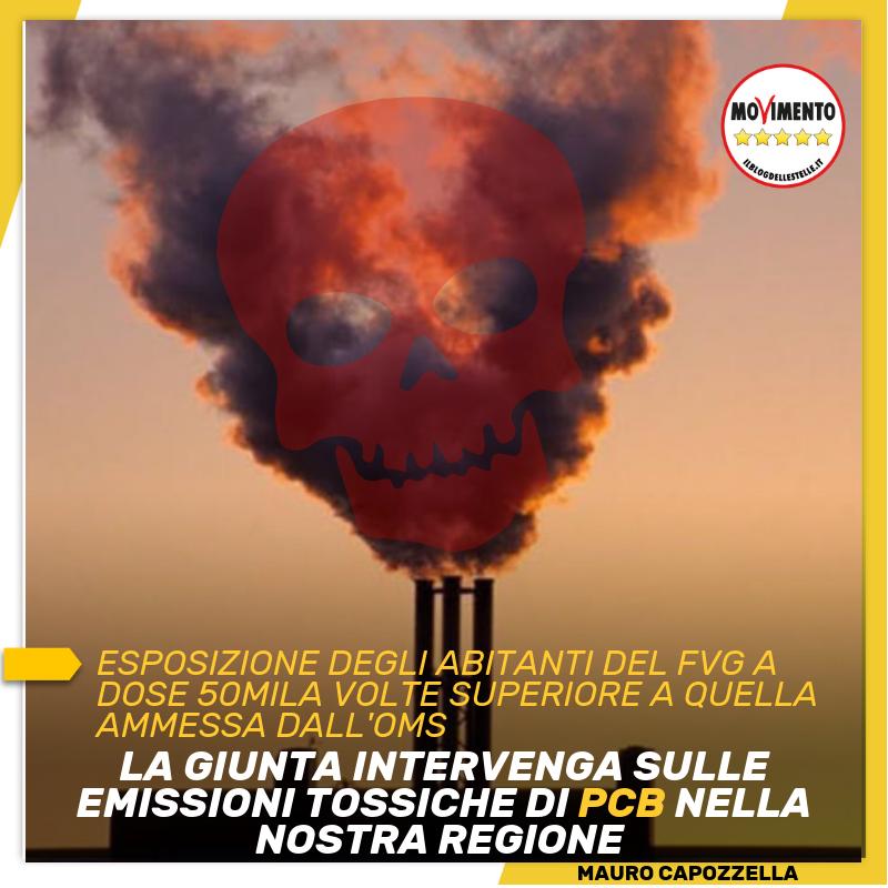 Read more about the article LA GIUNTA INTERVENGA SULLE EMISSIONI TOSSICHE DI PCB NELLA NOSTRA REGIONE E LO FACCIA SUBITO