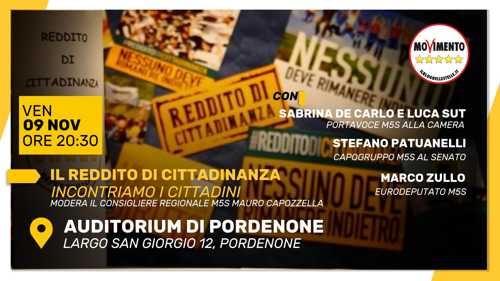 Read more about the article IL REDDITO DI CITTADINANZA INCONTRO COI CITTADINI