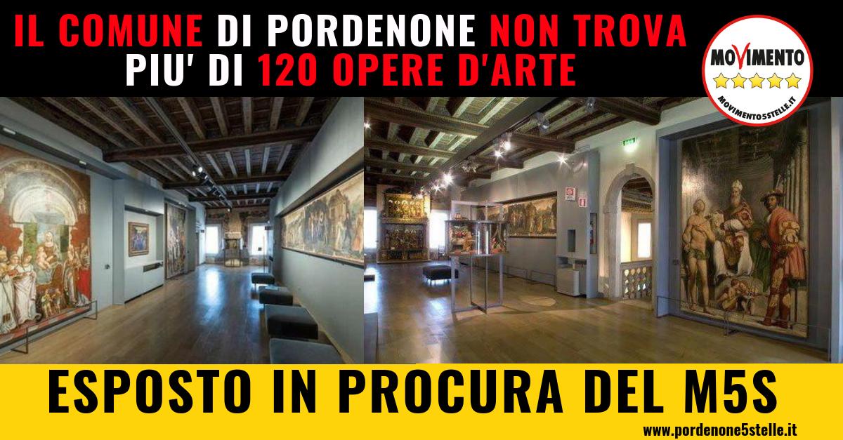 IL COMUNE DI PORDENONE NON TROVA PIÙ 120 OPERE D'ARTE. ESPOSTO IN PROCURA DEL M5S