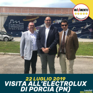Read more about the article OGGI IN VISITA ALL'ELECTROLUX