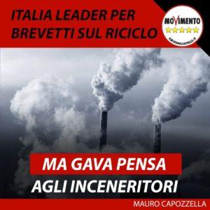 Italia leader per brevetti su riciclo, ma Gava pensa agli inceneritori