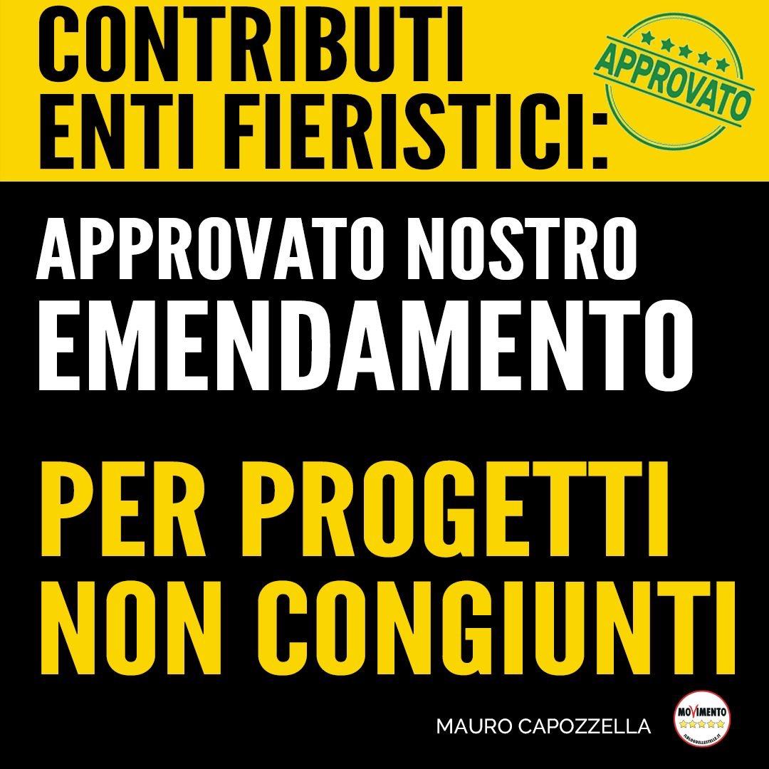 Capozzella (M5S FVG): approvato emendamento programmi Enti Fieristici