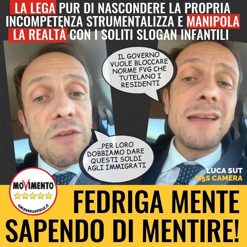 Read more about the article Fedriga mente sapendo di mentire