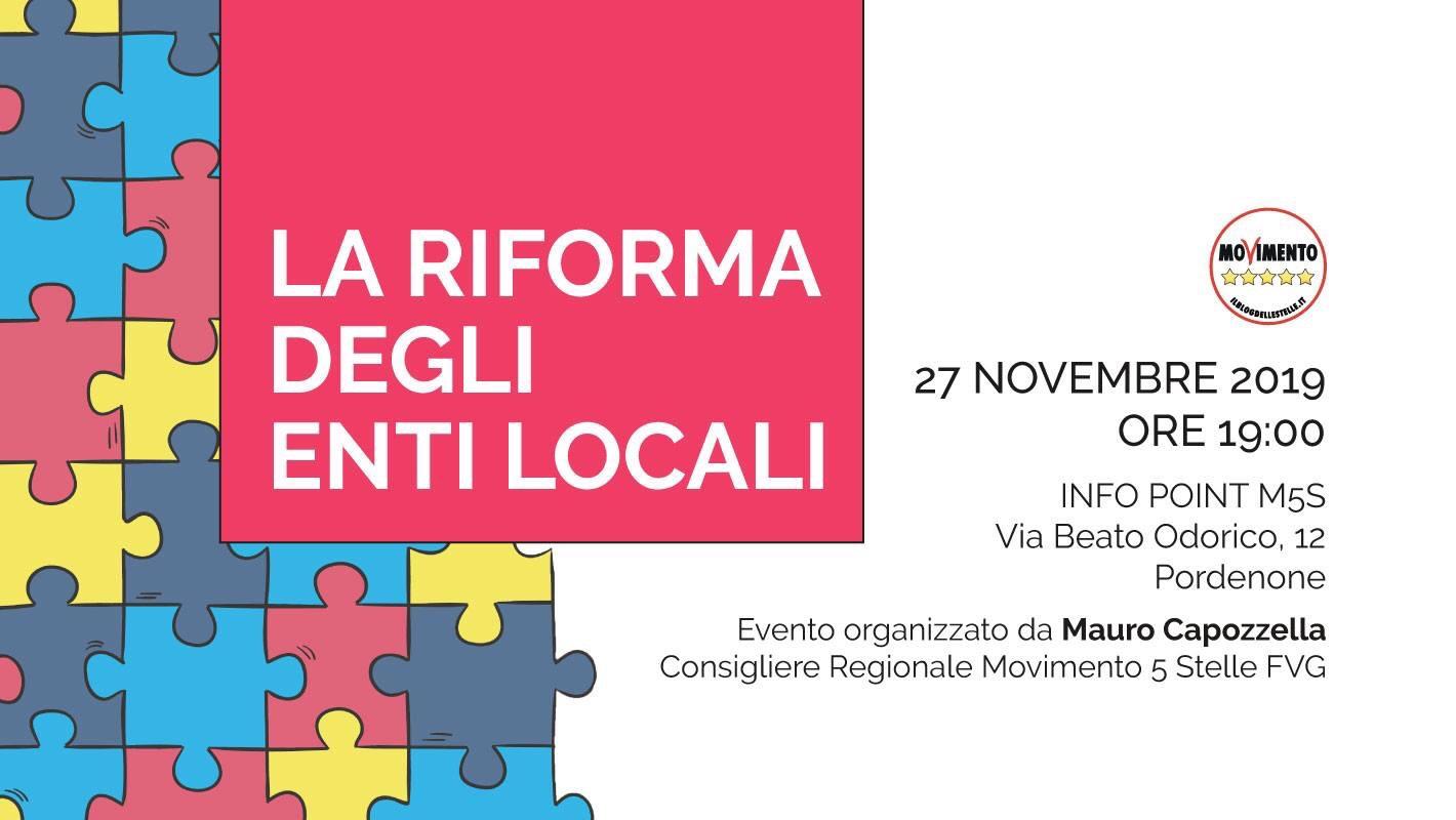 Read more about the article LA RIFORMA DEGLI ENTI LOCALI.