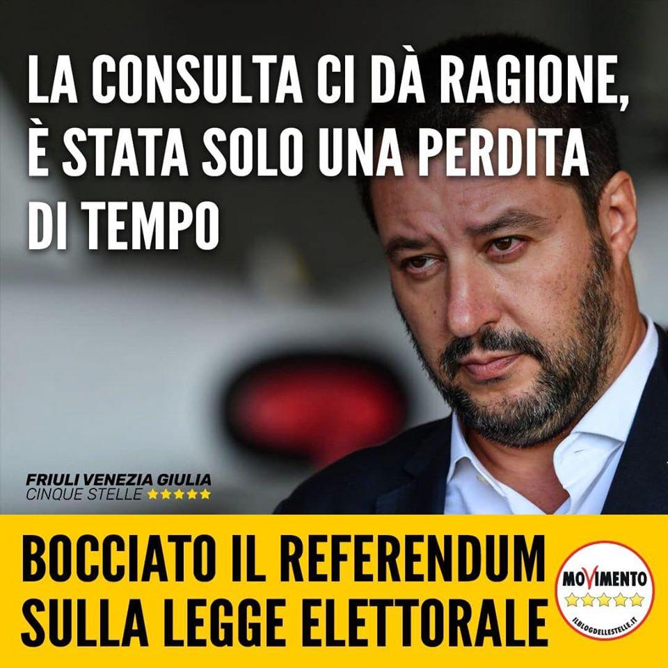 You are currently viewing Bocciato il referendum sulla legge elettorale voluto dalla Lega