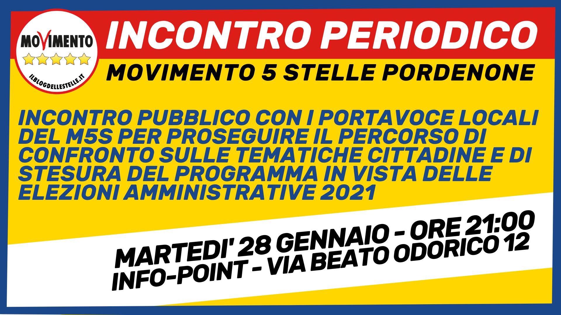 You are currently viewing Incontro Periodico del MoVimento 5 Stelle di Pordenone
