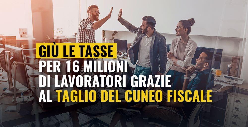 You are currently viewing Giù le tasse per milioni di lavoratori col taglio del Cuneo Fiscale