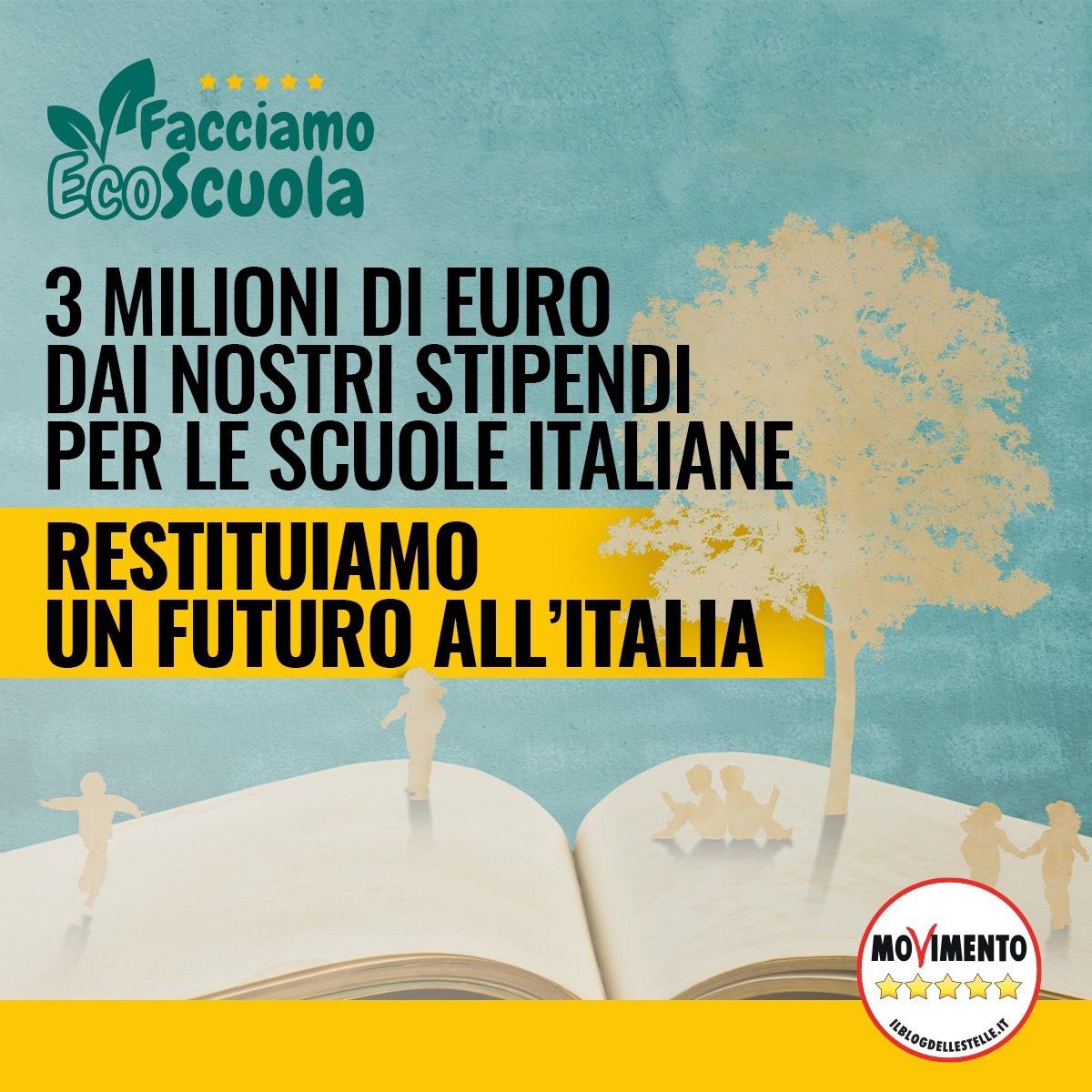 Facciamo Eco-Scuola: 3 Milioni di Euro dei nostri stipendi per le scuole italiane 1