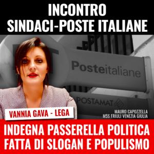 Read more about the article Incontro Poste-Sindaci: ennesima passerella politica della Gava (Lega).