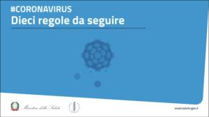 Read more about the article 10 Regole anti-coronavirus 🦠