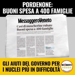Read more about the article Pordenone: buoni spesa a 400 famiglie
