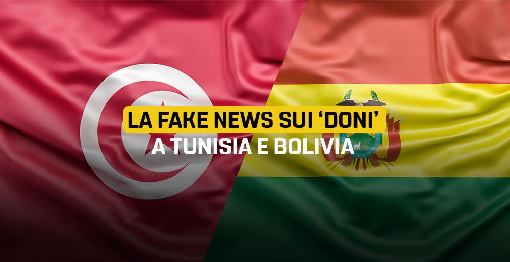 """Read more about the article La fake news sui """"doni"""" a Tunisia e Bolivia"""