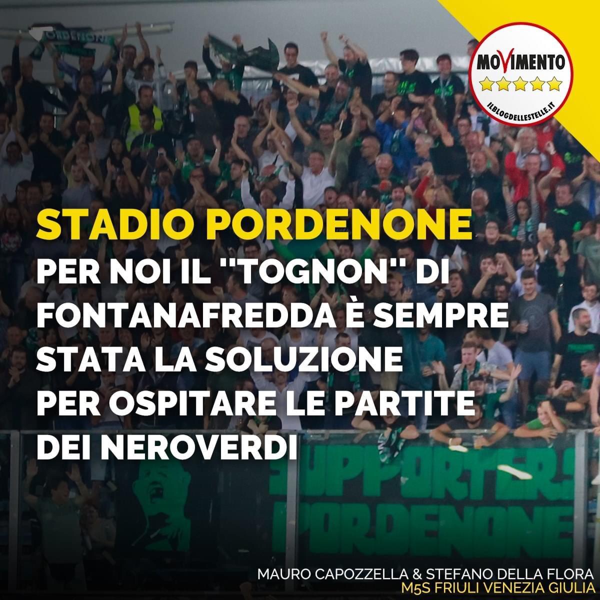 Read more about the article Stadio Pordenone: per noi il Tognon di Fontanafredda é sempre stata la soluzione per ospitare le partite dei neroverdi ⬛️🟩