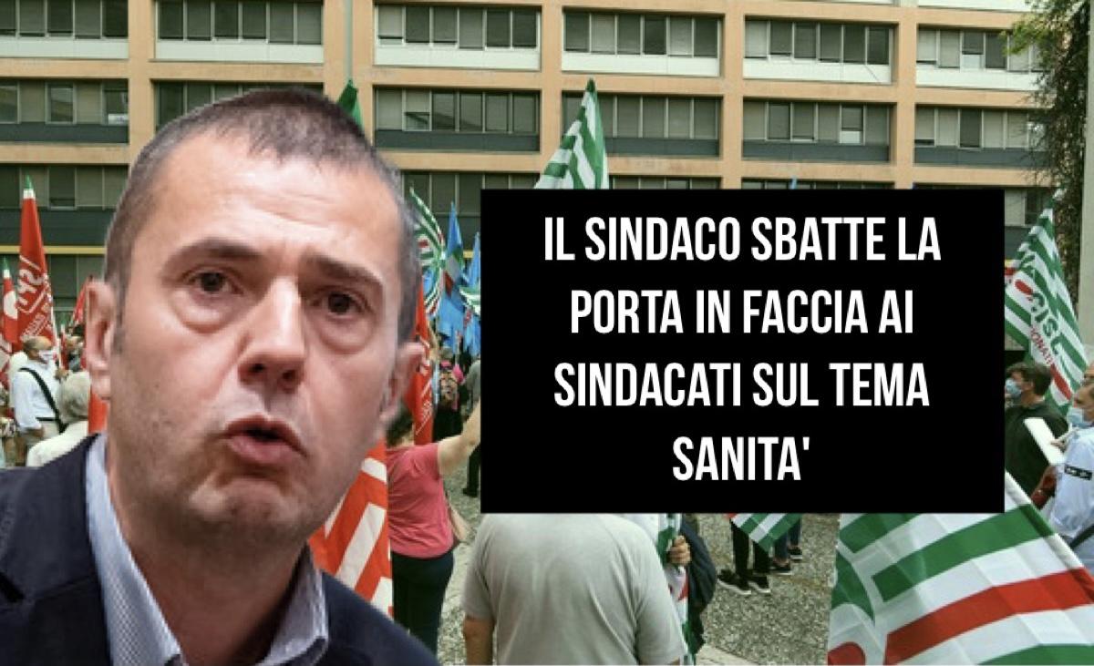 Read more about the article IL SINDACO SBATTE LA PORTA IN FACCIA AI SINDACATI SUL TEMA SANITA'