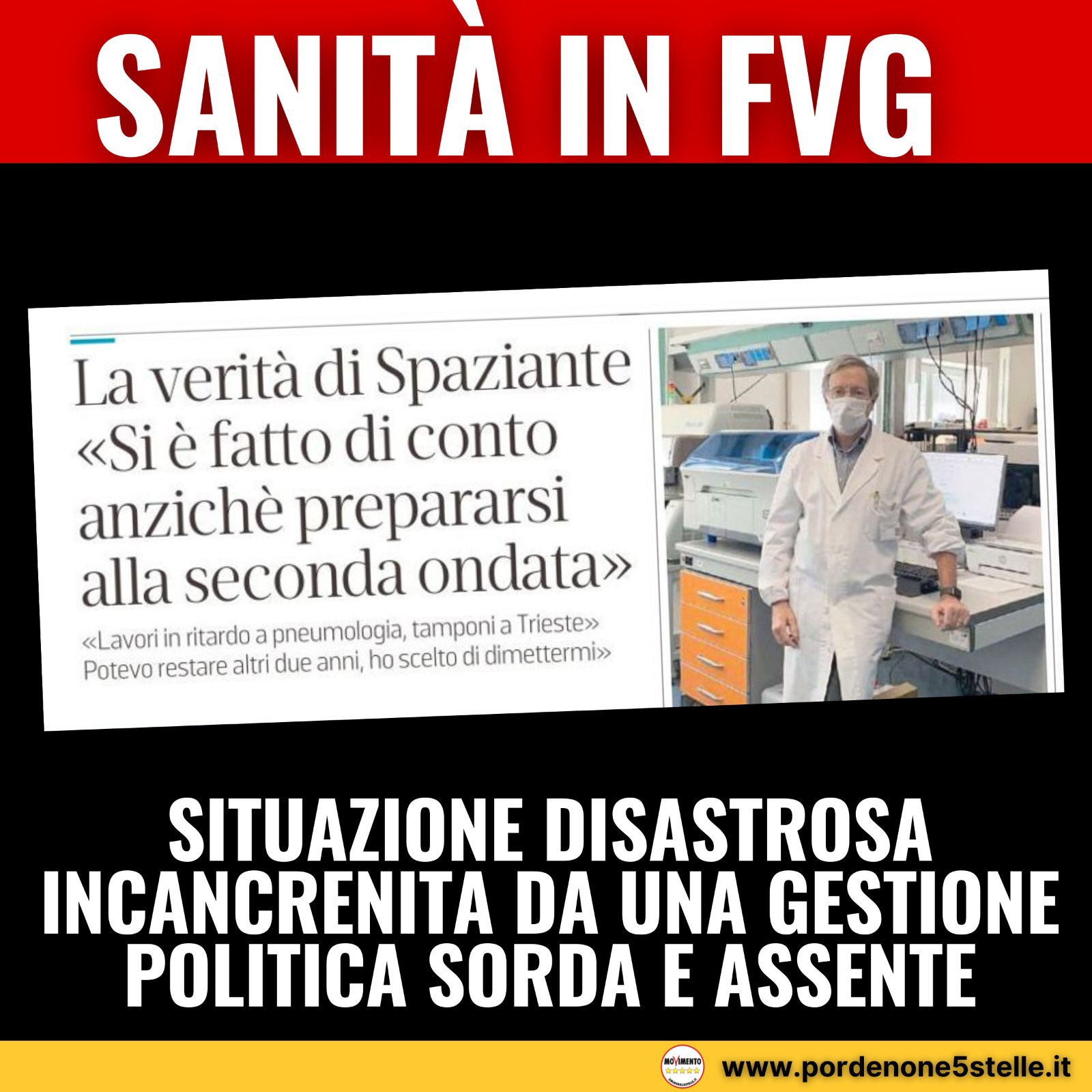 You are currently viewing Sanità in FVG, La situazione disastrosa incancrenita da una gestione politica sorda e assente