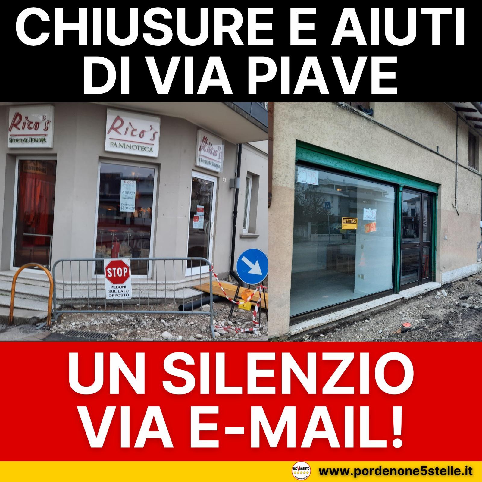 Read more about the article CHIUSURE E AIUTI DI VIA PIAVE: UN SILENZIO VIA MAIL!