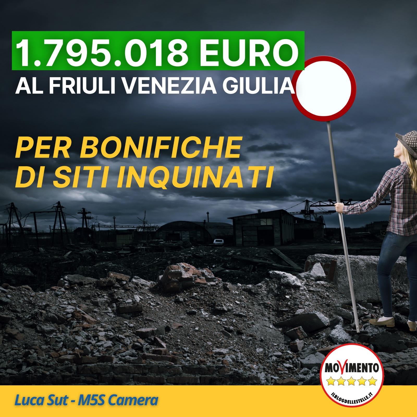 Read more about the article Stanziati oltre 105 milioni di euro per bonifiche di siti inquinanti abbandonati, di questi ben 1.795.018 € sono destinati al Friuli Venezia Giulia.
