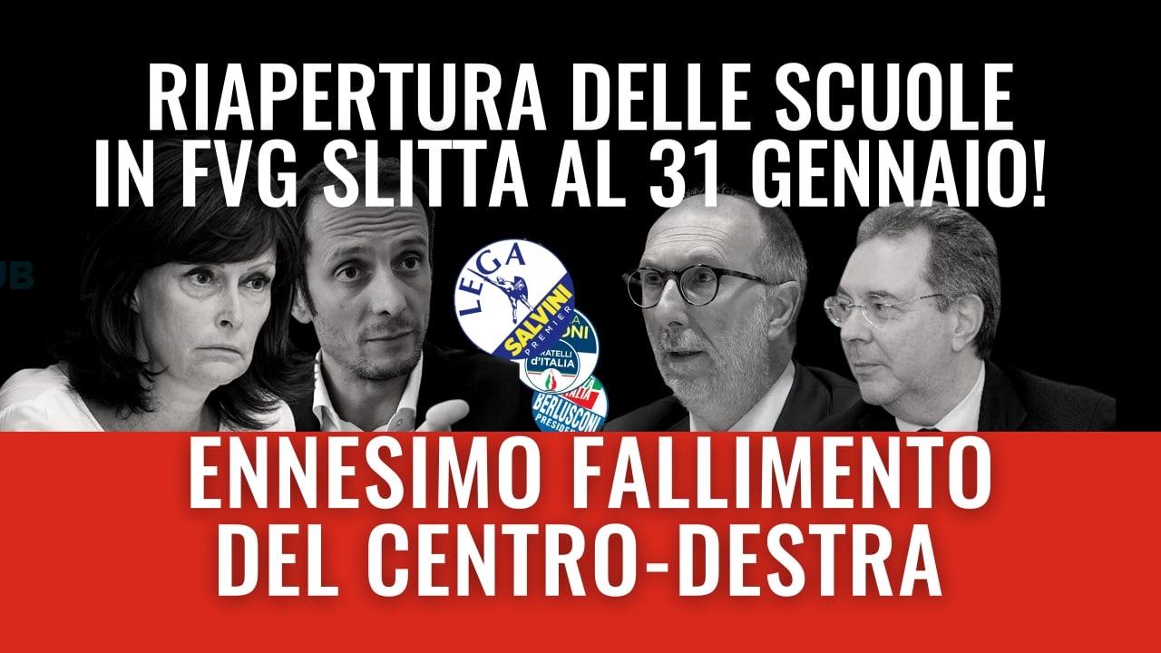 Read more about the article Riapertura scuole in FVG: il fallimento del centrodestra