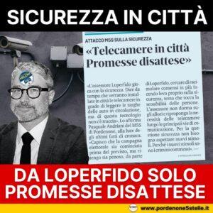 Read more about the article ANDRIANI: L'assessore Loperfido gioca con la sicurezza.