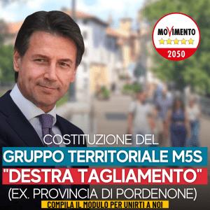 """Read more about the article ADERISCI AL COSTITUENTE GRUPPO TERRITORIALE M5S """"Destra Tagliamento"""" (Ex Provincia di Pordenone)"""